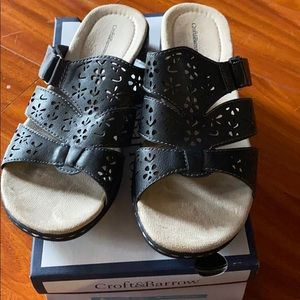 Black slip on sandal from Croft & barrow